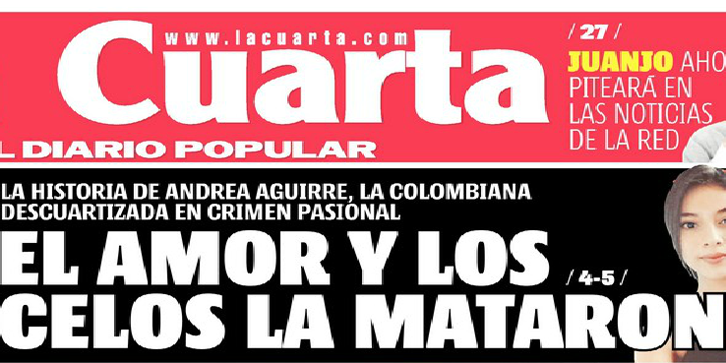 La violencia de prensa en el Diario La Cuarta - ComunidadMujer